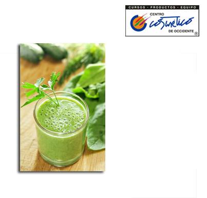 El beneficio de los jugos verdes